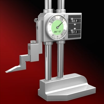 height gauge 3d model
